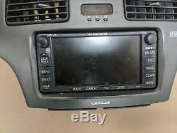 02-06 Lexus Es300 Es330 Radio CD Gps Navigation Controls Dash Bezel 86120-33551