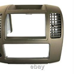 05-12 Nissan Pathfinder Xterra Radio CD Player Climate Control Bezel Dash Black