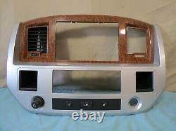 06 07 08 Dodge RAM Radio Player AC Temp Climate Control Panel Dash Bezel OEM