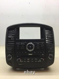 08-12 Nissan Pathfinder BOSE Radio 6 CD Player Climate Control Bezel