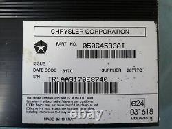 11 12 13 14 Durango Grand Cherokee Audio Radio Amplifier AMP Mopar 05064533AI