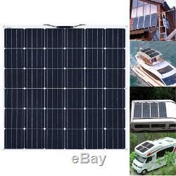 160W 18V Flexible Solar Panel Mono Module Boat Home Caravan 12V Battery Charging