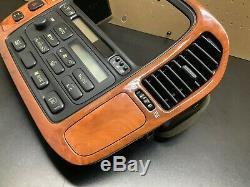 1998-2002 Lexus LX470 Climate Control Radio Tape CD Player Dash Wood Bezel OEM