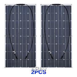 200W Solar Panel System Solar Cell Module 20A Controller for Home/Caravan/RV/Car