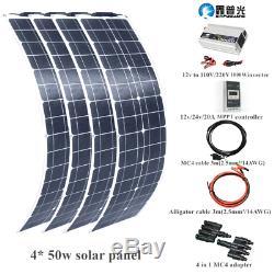 200w flexible Solar Panel Solar Cell Module Kit+1kw inverter+20A MPPT Controller
