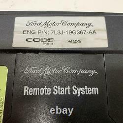 2010 F150 Remote Start System Body Control Module 7L3J-19G367-AA + Fobs