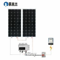 2pcs 150W Solar Panel System 300w Mono Module Micro-inverter Controller RV Roof
