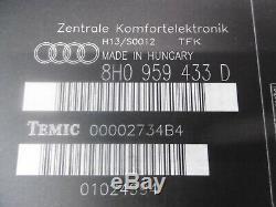 Audi A4 B6 B7 8H Komfort/Komfort Steuergerät Bcm 8H0959433D 8H0 959 433 D