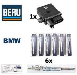 BERU Original 6x Glow Plug & 1x Control Relay unit BMW E46 E90 E60 E83 E53 E70