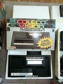 COLECOVISION Lot Console, Expansion Module #1, #2, Super Action Controller Set