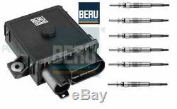 Glow Plug Control Unit Relay Module & Glow Plugs BMW E53 E70 X5 3.0d, 3.0sd BERU