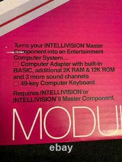 Intellivision Computer Module Keyboard Adapter and Hand Controller in Box 1983