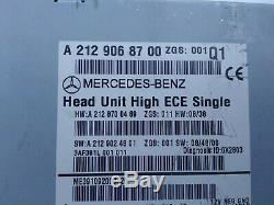MERCEDES BENZ E Class W212 C207 OEM ORIGINAL HEAD UNIT SINGLE high
