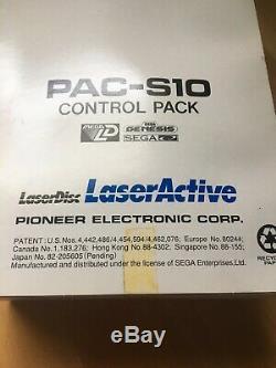 Pioneer Laseractive Sega Genesis CD Control Pack PAC-S10 Module Untested Nice