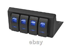 S-Tech 4 Switch System with Relay Center Blue Dual LED 09-18 Jeep Wrangler JK