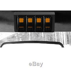 S-Tech 4 Switch System with relay center Amber Dual LED 97-06 Jeep Wrangler TJ/LJ