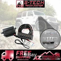 S-Tech 6 Switch System with Relay Center Amber Kit fits 2018 Jeep Wrangler JL
