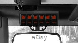 S-Tech 6 Switch System with Relay Center Red Dual LED 09-18 Jeep Wrangler JK