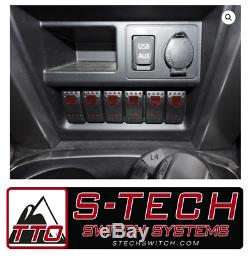 S-Tech 6 Switch System with Relay Center Red Dual LED 2014-2018 Toyota 4Runner