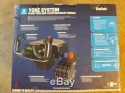 Saitek Yoke System & 3 Lever Quadrant Module #PZ44 NIB, Box opened