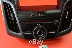 T4 2014-2018 Ford Focus Sony Radio Control Panel Bezel Navigation Dm51-18835-aaw