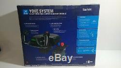 Yoke system Flight yoke and 3-Lever Quadrant Module for windows
