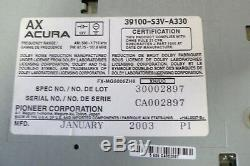 01 02 03 04 Acura MDX Audio CD Radio Cassette Disc 6 Changer Lecteur Bose Oem