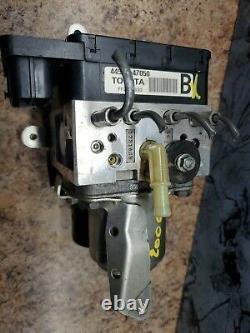 04 2009 Toyota Prius Abs Système Pompe De Frein Hydraulique Anti Verrouillage Actionneur Oem