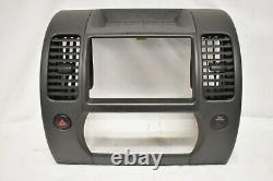 05-12 Nissan Xterra Gray Radio CD Player Climate Control Bezel Dash E106