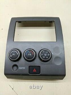 06-07 Nissan Titan Ac Atc Therm Temp Climate Control Dash Lunette Oem 27500-zh300