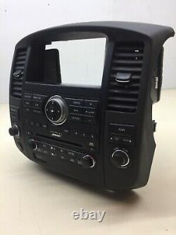 08-12 Nissan Pathfinder Bose Radio 6 CD Bezel Climate Control