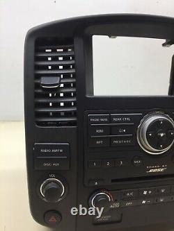 08-12 Nissan Pathfinder Bose Radio 6 CD Player Climate Control Lunette