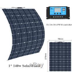 140w Souple Système Solaire Panneau Solarmodul 20a Controller Für Bateau Caravane Accueil