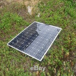 200w Souple Système Solaire Panneau De Commande Kit Solaire Module + 20a Pour Le Bateau Rv Voiture