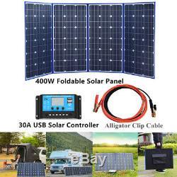 400w Cellulaire Portable Panneau Solaire Module + 30a Controller Pour Camping En Plein Air Bateau Rv