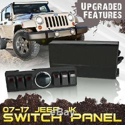 6 Contura Commutateur Panneau De Configuration Module Système Complet De Câblage 07-16 Jeep Wrangler Jk