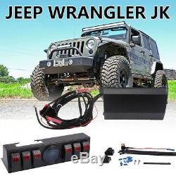 6 Kit De Boîtier De Commande De Module De Système De Relais Électronique À Commutateur À Bascule Pour Jeep Jk Jku