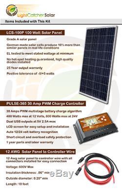 600w Watt Système De Charge De Batterie Hors Réseau 12-v Volt (600w Par Jour)