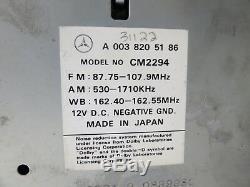 94-98 Mercedes Sl Slk W140 W202 W124 Système Audio Am Fm Lecteur De Cassettes Oem