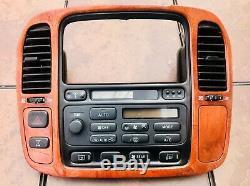 98 99 00 01 02 Lecteur De CD Radio CD Lexus Lx470 Avec Commandes De Climatisation Et Cadre