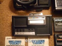 Colecovision Expansion Module 1 & 2, Contrôleurs, 20 Jeux Testés Et Fonctionne