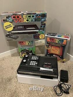 Colecovision Lot Avec Les Modules D'extension, Contrôleur Roller Et 24 Jeux