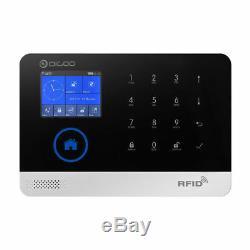 Dg-hosa 433 Mhz Sans Fil Gsm & Wifi 2g Kit De Systèmes D'alarme De Sécurité Pour La Maison Intelligente