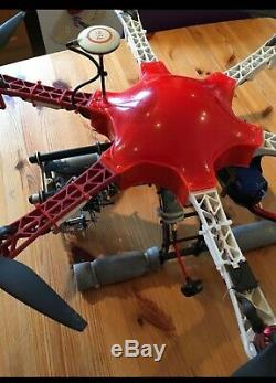 Dji F550 Flamewheel Hexacopter Drone Naza M V2 Système De Contrôle Gps Module Pmu Led