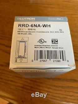Lutron Rrd-6na-wh Gradateur Adaptatif Avec Système De Commande Domotique Totale Sans Fil Radiora2