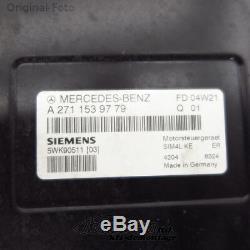 Motorsteuergerät Mercedes Slk R171 200 Kompressor A2711539779 Écus