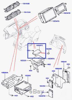 Ordinateur De Navigation Jaguar Land Rover, Boîte De Module De Commande, Sd Ecu Lr053667