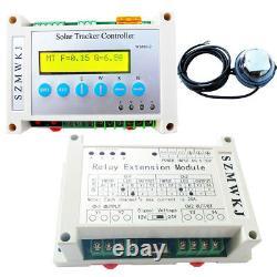 Panneau Solaire Tracker À Deux Axes De Suivi Contrôleur LCD Et Capteur De Lumière + Module Relais