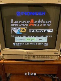Pioneer Laseractive Cld-a100 Avec Module Sega Pac-s10, Contrôleur, Télécommande, Jeu