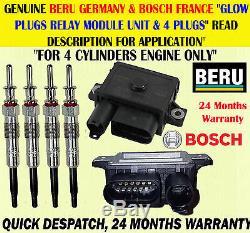 Pour 3 Séries 318d 318td 320d 320cd 2.0d Bougie De Préchauffage X4 & Module De Commande De Relais